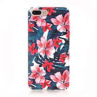 cheap Apple Accessories-Case For Apple iPhone X iPhone 8 Frosted Pattern Back Cover Flower Hard PC for iPhone X iPhone 8 Plus iPhone 8 iPhone 7 Plus iPhone 7