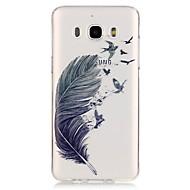 abordables Galaxy J1 Carcasas / Fundas-Funda Para Samsung Galaxy Transparente Diseños Funda Trasera Plumas Suave TPU para J7 V J7 Perx J7 (2017) J7 (2016) J7 J5 (2017) J5
