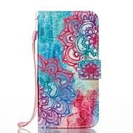 Кейс для Назначение SSamsung Galaxy Кошелек Бумажник для карт со стендом Флип С узором Магнитный Чехол Цветы Твердый Искусственная кожа
