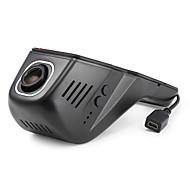 Недорогие Видеорегистраторы для авто-A8 720p / 1080p Автомобильный видеорегистратор 140° Широкий угол Нет экрана (выход на APP) Капюшон с Обноружение движения 4 инфракрасных LED Автомобильный рекордер