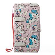 Недорогие Кейсы для iPhone 8 Plus-Кейс для Назначение Apple iPhone X iPhone 8 iPhone 8 Plus Бумажник для карт Кошелек со стендом Флип Магнитный С узором Чехол единорогом