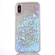 abordables Fundas para iPhone 8 Plus-Funda Para Apple iPhone X iPhone 8 iPhone 8 Plus Funda iPhone 5 Líquido Transparente Funda Trasera Brillante Dura ordenador personal para