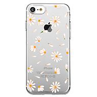 Недорогие Кейсы для iPhone 8-Кейс для Назначение Apple iPhone X / iPhone 8 С узором Кейс на заднюю панель Плитка / Цветы Мягкий ТПУ для iPhone X / iPhone 8 / iPhone 7 Plus