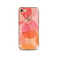 Кейс для Назначение iPhone X iPhone 8 Прозрачный С узором Задняя крышка дерево Мягкий TPU для iPhone X iPhone 8 Plus iPhone 8 iPhone 7