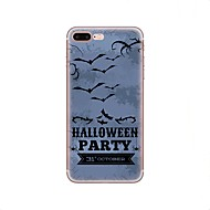 Кейс для Назначение Apple iPhone X iPhone 8 iPhone 8 Plus С узором Задняя крышка Halloween Мягкий TPU для iPhone X iPhone 8 Plus iPhone 8