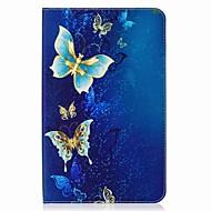 お買い得  タブレット用アクセサリー-ケース 用途 Samsung Galaxy フルボディーケース タブレットケース バタフライ ハード PUレザー のために Tab E 9.6