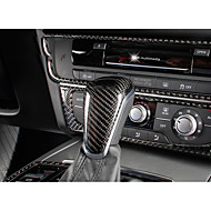 cheap Car Shift Knobs-Automotive Vehicle Shift Knob Refit(Carbon Fiber)For Audi 2012 2013 2014 2015 A6