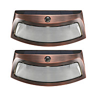 2PCS Solar Power Phototonus Light Waterproof Outdoor Smiling Wall Lights Wirecurity Step Night Lamps for Stair Garden Doorway-Copper