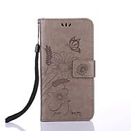 Назначение iPhone X iPhone 8 Чехлы панели Кошелек Бумажник для карт со стендом Флип Рельефный С узором Магнитный Чехол Кейс для Цветы