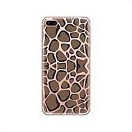 Недорогие Кейсы для iPhone 8 Plus-Кейс для Назначение Apple iPhone X iPhone 8 Прозрачный С узором Кейс на заднюю панель Леопардовый принт Мягкий ТПУ для iPhone X iPhone 8