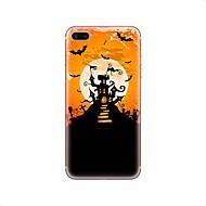 Недорогие Кейсы для iPhone 8-Кейс для Назначение Apple iPhone X iPhone 8 iPhone 8 Plus Прозрачный С узором Задняя крышка Halloween Мягкий TPU для iPhone X iPhone 8