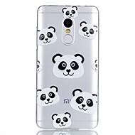 お買い得  携帯電話ケース-ケース 用途 Xiaomi パターン バックカバー パンダ カートゥン ソフト TPU のために Xiaomi Redmi Note 4X Xiaomi Redmi Note 4