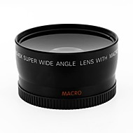 baratos -Lente de conversor grande angular de 0,8 milímetros de 58 mm com anexo de macro close-up para cânone