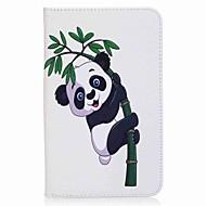 preiswerte Tablet Zubehör-Hülle Für Samsung Galaxy Ganzkörper-Gehäuse Tablet-Hüllen Panda Hart PU-Leder für Tab A 7.0 (2016)