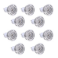 10pcs 3W GU10 Spot LED 3 diodes électroluminescentes SMD 3030 Blanc Chaud Blanc Froid 200-300lm 2800-3200/6000-6500
