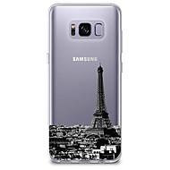 Недорогие Чехлы и кейсы для Galaxy S8-Кейс для Назначение SSamsung Galaxy S8 / S7 Ультратонкий / Прозрачный / С узором Кейс на заднюю панель Вид на город Мягкий ТПУ для S8 Plus / S8 / S7 edge