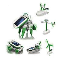 preiswerte Spielzeuge & Spiele-6 IN 1 Roboter Solar betriebene Spielsachen Flugzeug Windmühle Schiff Solar-angetrieben Heimwerken Bildung Kinder Spielzeuge Geschenk 1 pcs