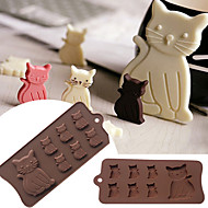 tanie Narzędzia kuchenne-piękny kot kotek 7 wnęka silikonowa forma do kremówki guma pasty czekoladowe ciasteczka ciasto narzędzia