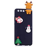 voordelige Mobiele telefoonhoesjes-hoesje Voor P10 P10 Lite Mat DHZ Achterkant Kerstmis 3D Cartoon Zacht TPU voor P10 Lite P10 P8 Lite (2017)