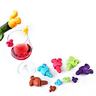 tanie -7szt słodki wiewiórka butelka wina korek silikonowy napój szklany kubek markerów etykiet wyróżników losowy kolor