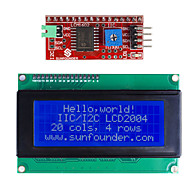 billige -IIC / I2C serie lcd 2004 modul display for (for arduino) (fungerer med offisiell (for Arduino) boards)