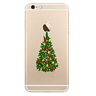 Кейс для Назначение Apple iPhone X iPhone 8 iPhone 8 Plus Прозрачный С узором Задняя крышка дерево Рождество Мягкий TPU для iPhone X