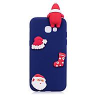 Недорогие Чехлы и кейсы для Galaxy A5(2017)-Кейс для Назначение SSamsung Galaxy A7(2017) A5(2017) Матовое Своими руками Кейс на заднюю панель Рождество 3D в мультяшном стиле Мягкий