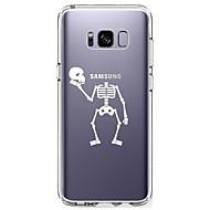 voordelige Galaxy S5 Hoesjes / covers-hoesje Voor Samsung Galaxy S8 Plus S8 Ultradun Transparant Patroon Achterkant Doodskoppen Zacht TPU voor S8 Plus S8 S7 edge S7 S6 edge