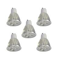 5pcs 5W GU10 Spot LED 5 diodes électroluminescentes LED Haute Puissance Intensité Réglable Blanc 400lm 6000K 110-120V