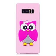 Etui Käyttötarkoitus Samsung Galaxy Note 8 Kuvio DIY Takakuori 3D sarjakuva Pöllö Pehmeä TPU varten Note 8