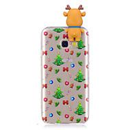 Capinha Para Samsung Galaxy A7(2017) A5(2017) Estampada Faça Você Mesmo Capa Traseira Desenhos 3D Natal Macia TPU para A3 (2017) A5