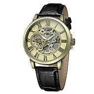 FORSINING Muškarci Modni sat Ručni satovi s mehanizmom za navijanje Casual sat Automatski Koža Grupa Ležerne prilike Cool