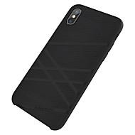 Недорогие Кейсы для iPhone 8 Plus-Кейс для Назначение Apple iPhone X iPhone X iPhone 8 Защита от удара Кейс на заднюю панель Полосы / волосы Сплошной цвет Мягкий Силикон