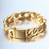 cheap Jewelry & Watches-Men's Bracelet Casual Fashion Cool Gift Stainless Steel Jewelry Casual Daily Wear Costume Jewelry Gold Silver