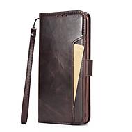 Недорогие Чехлы и кейсы для Galaxy S7 Edge-Кейс для Назначение SSamsung Galaxy S8 S7 Бумажник для карт Кошелек со стендом Флип Чехол Сплошной цвет Твердый Кожа PU для S8 Plus S8 S7