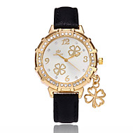 Women's Fashion Watch Chinese Quartz PU Band Casual Black White Blue Red Gold Purple Rose Sky Blue