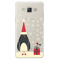 Case Kompatibilitás Samsung Galaxy A7(2017) Minta Hátlap Rajzfilm Karácsony Puha TPU mert A3 (2017) A5 (2017) A7 (2017) A7(2016) A5(2016)