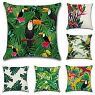 cheap Home Textiles-6 pcs Cotton/Linen Pillow Case Pillow Cover, Botanical Classic Novelty Classical Tropical Neoclassical Euro Traditional/Classic Retro