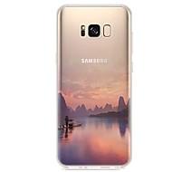 Недорогие Чехлы и кейсы для Galaxy S7 Edge-Кейс для Назначение S8 S7 Ультратонкий Прозрачный С узором Задняя крышка Пейзаж Мягкий TPU для S8 S8 Plus S7 edge S7 S6 edge plus S6 edge