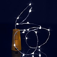 お買い得  -BRELONG® 1.5m ストリングライト 15 LED Dip LED 温白色 / ホワイト / ブルー 防水 1個