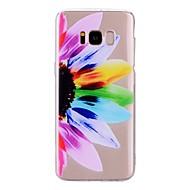 Недорогие Чехлы и кейсы для Galaxy S8-Кейс для Назначение SSamsung Galaxy S8 Plus / S8 Прозрачный / С узором Кейс на заднюю панель Цветы Мягкий ТПУ для S8 Plus / S8 / S7 edge