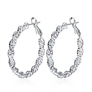 Women's Drop Earrings Hoop Earrings Vintage Sweet Lovely Fashion Hypoallergenic Copper Silver Plated Circle Jewelry For Daily Evening