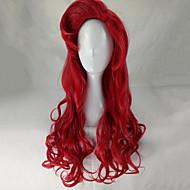 Недорогие Парики-Парики из искусственных волос Волнистый Без шапочки-основы Жен. Красный Парик для Хэллоуина Парики для вечеринки Парик Лолита Длинные