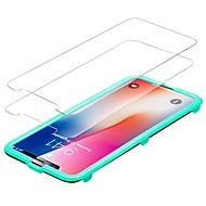 Недорогие Защитные плёнки для экрана iPhone-Защитная плёнка для экрана Apple для iPhone X Закаленное стекло 2 штs Защитная пленка для экрана Против отпечатков пальцев Защита от