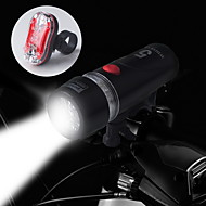 저렴한 손전등-자전거 라이트 자전거 전조등 자전거 후미등 LED 싸이클링 방수 14500 AA 100 루멘 배터리 사이클링