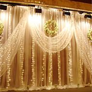 3m x 3m 300 led ablak függöny lámpa fény esküvői party otthoni kerti hálószoba kültéri beltéri fal dekoráció