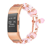 Недорогие Аксессуары для смарт-часов-Ремешок для часов для Fitbit Charge 2 Fitbit Дизайн украшения Металл Повязка на запястье