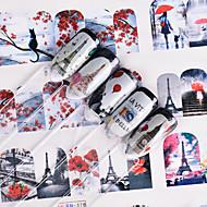 12 Nail Art Sticker  Decals Applique Water Transfer Sticker Water Transfer Decals DIY Tools Makeup Cosmetic Nail Art Design