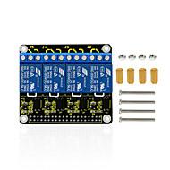 お買い得  Arduino 用アクセサリー-keyestudio rpiラズベリーパイの4チャンネルリレー5vシールド