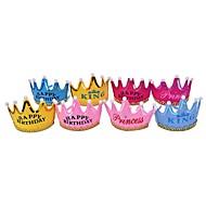 voordelige Woondecoratie-4 stks kroon led verjaardag cap hoed prinses hoed party ramdon kleur